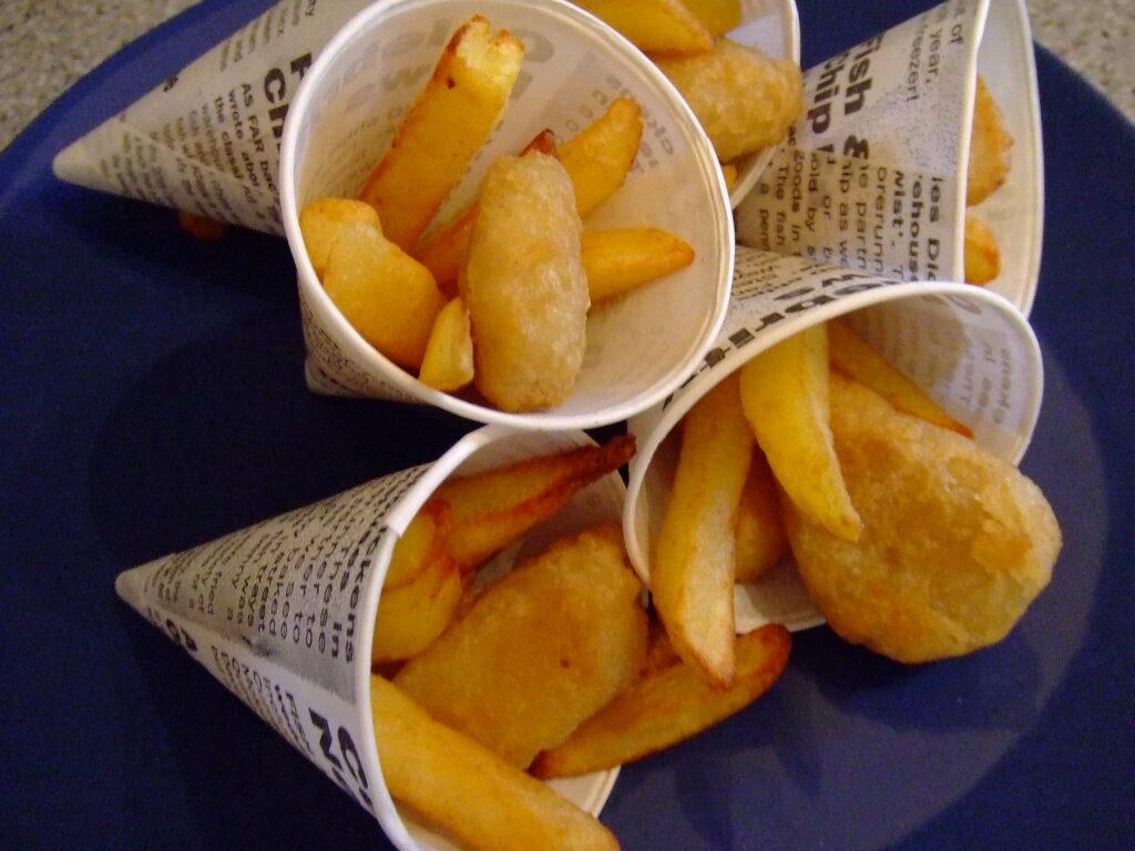 Mini fish'n'Chip cones